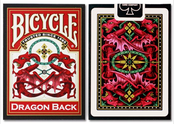 드래곤백덱_레드(Bicycle Dragon Back Cards_Red) by USPCC