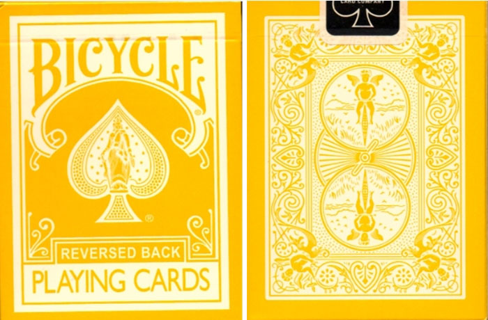 리버시드백_옐로우(Reversed Back Bicycle Deck_Yellow (Yellow Deck 2nd Generation)