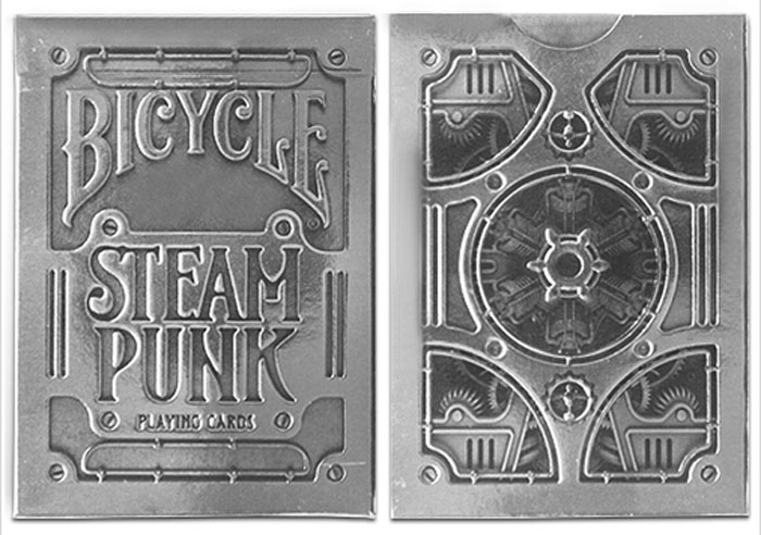 실버스팀펑크덱(Bicycle Silver Steampunk Playing Cards by USPCC)