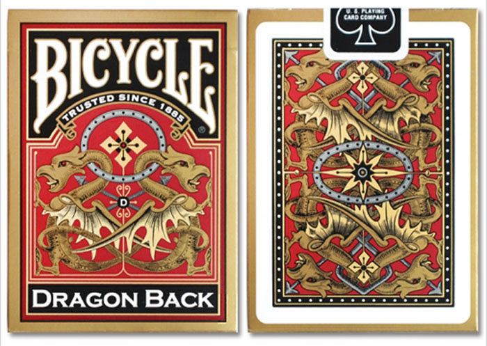 드래곤백덱_골드(Bicycle Dragon Back Cards_Gold)_by USPCC