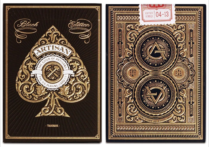 블랙아티젠덱(Artisan Playing Cards)