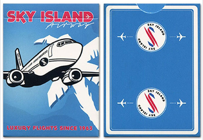 스카이아일랜드덱블루(Sky Island Playing Cards BLUE by Edo Huang)